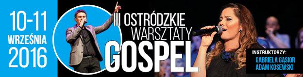 Baner warsztatów Gospel