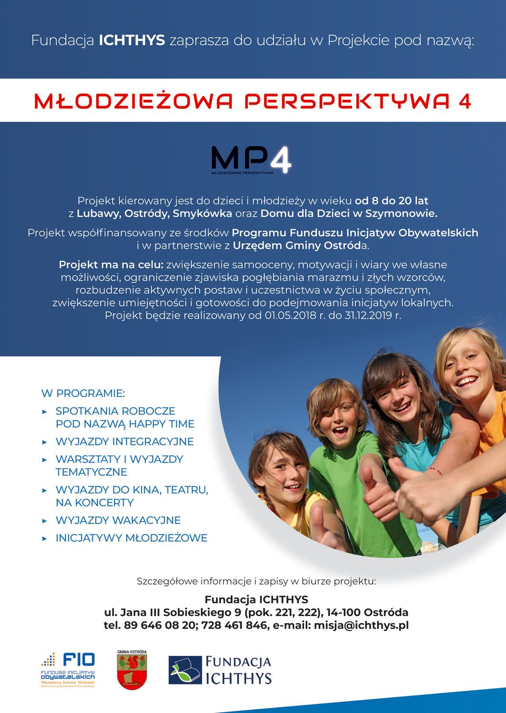 Plakat informujący o projekcie MP4