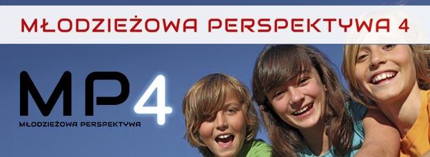 Baner informacyjny o projekcie Młodzieżowa Perspektywa 4